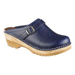 Women's Troentorp Bastad Clogs Julius Dark Blue Leather