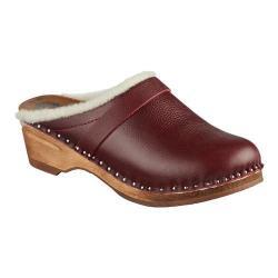 Women's Troentorp Bastad Clogs Munich Claret Leather