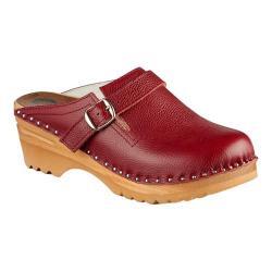 Women's Troentorp Bastad Clogs Raphael Aztec Red Leather