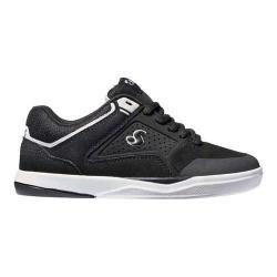 Boys' DVS Portal Skate Shoe Black/White Leather