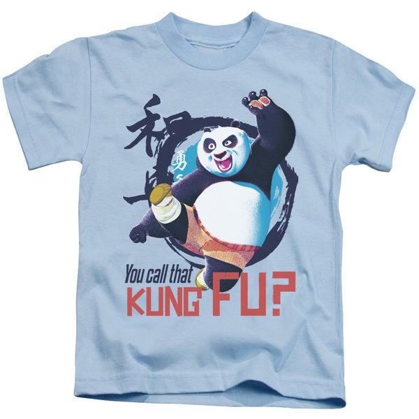 Kung Fu Panda/Kung Fu Short Sleeve Juvenile Graphic T-Shirt in Light Blue