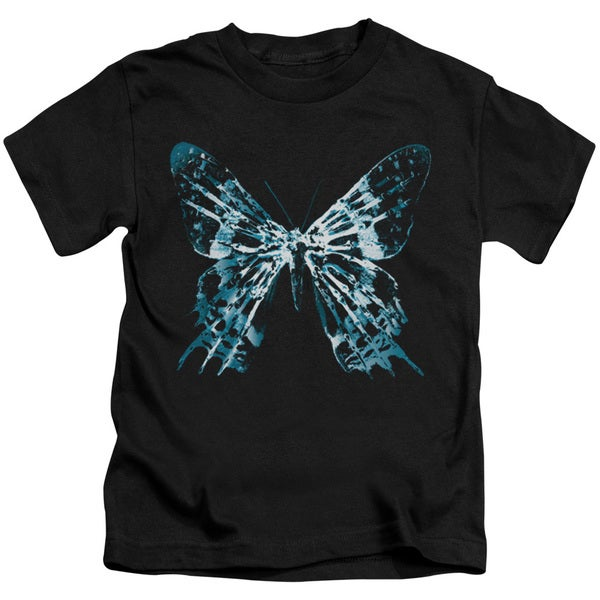 Fringe/Butterfly Glyph Short Sleeve Juvenile Graphic T-Shirt in Black