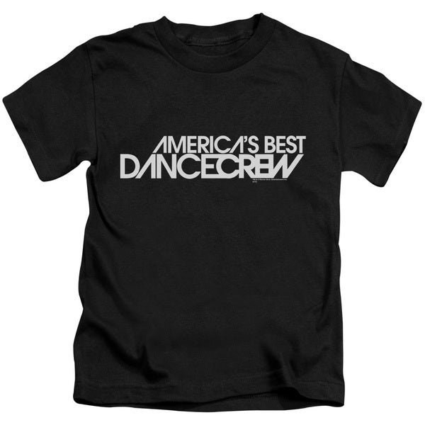 AbDC/Dance Crew Logo Short Sleeve Juvenile Graphic T-Shirt in Black