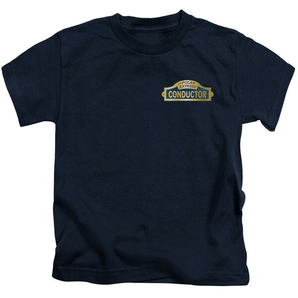 Polar Express/Conductor Short Sleeve Juvenile Graphic T-Shirt in Navy