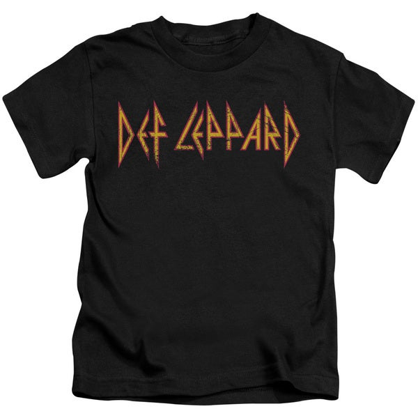 Def Leppard/Horizontal Logo Short Sleeve Juvenile Graphic T-Shirt in Black