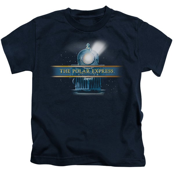 Polar Express/Train Logo Short Sleeve Juvenile Graphic T-Shirt in Navy