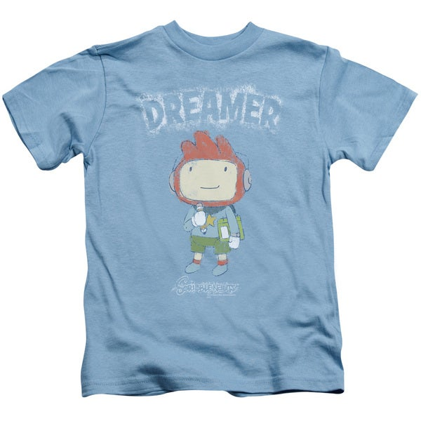 Scribblenauts/Dreamer Short Sleeve Juvenile Graphic T-Shirt in Carolina Blue