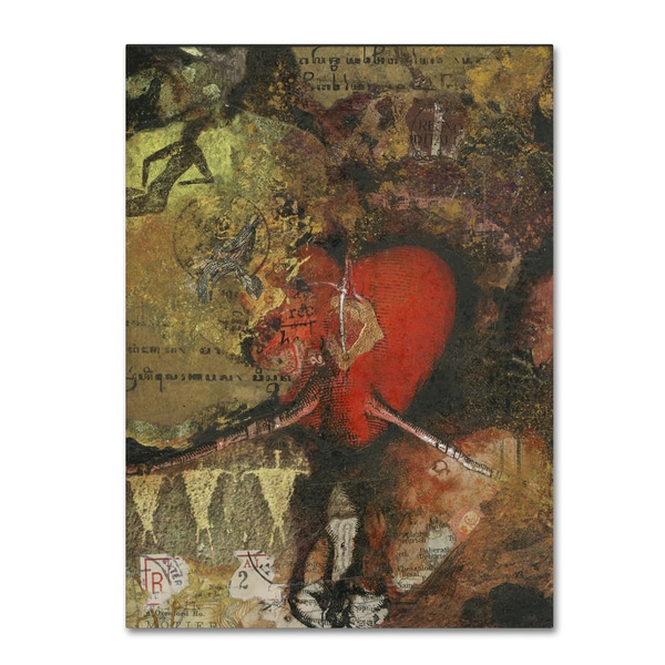 Nick Bantock 'Heart' Canvas Art