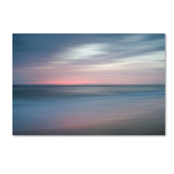 PIPA Fine Art 'The Colors of Evening on the Beach' Canvas Art