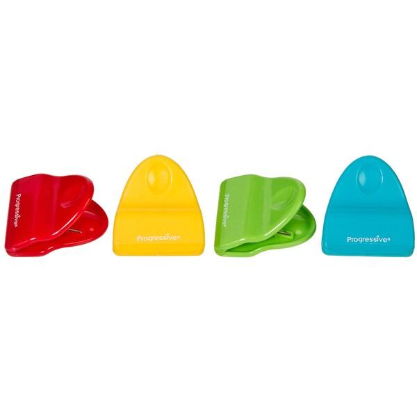 Progressive Mini Bag Clips Assorted Colors 4-count