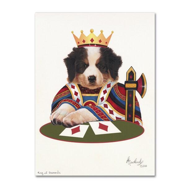 Jenny Newland 'King Of Diamonds' Canvas Art