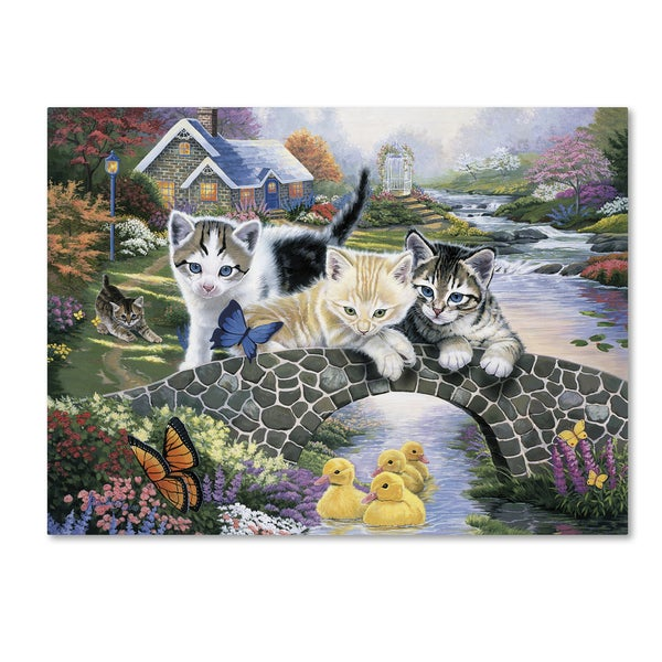 Jenny Newland 'A Purrfect Day' Canvas Art