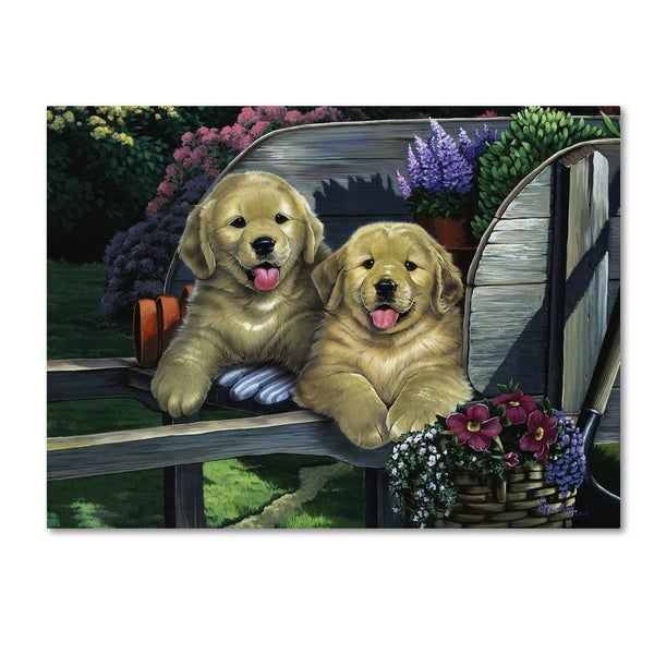 Jenny Newland 'Wagging Along For The Ride' Canvas Art