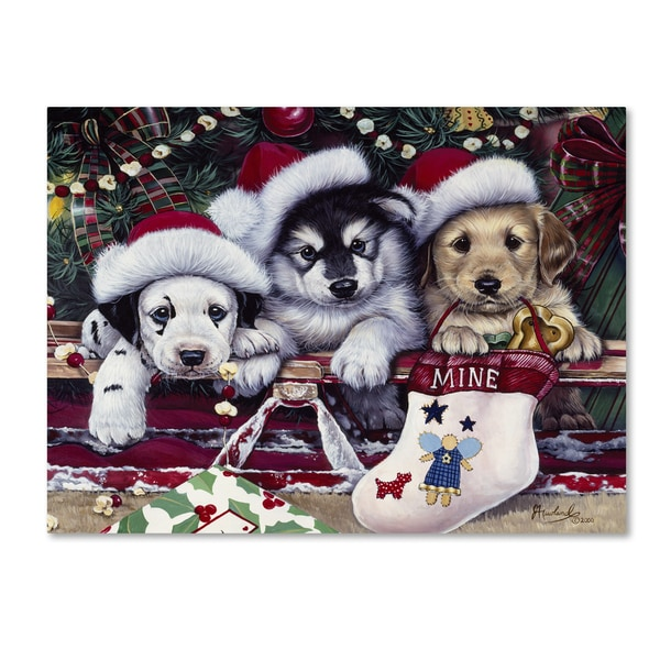 Jenny Newland 'A Tail Wagging Christmas' Canvas Art