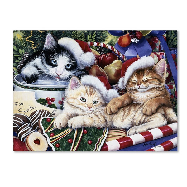 Jenny Newland 'Meowy Christmas 2' Canvas Art