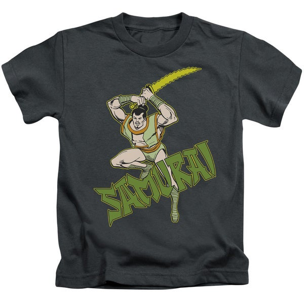 DC/Samurai Short Sleeve Juvenile Graphic T-Shirt in Charcoal