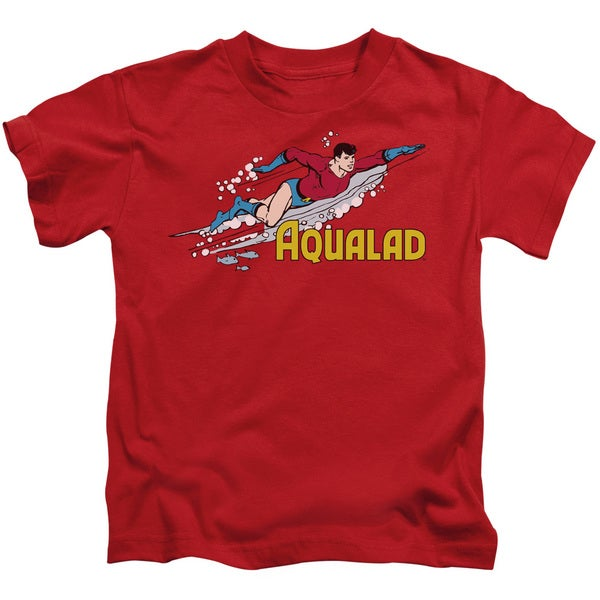 DC/Aqualad Short Sleeve Juvenile Graphic T-Shirt in Red