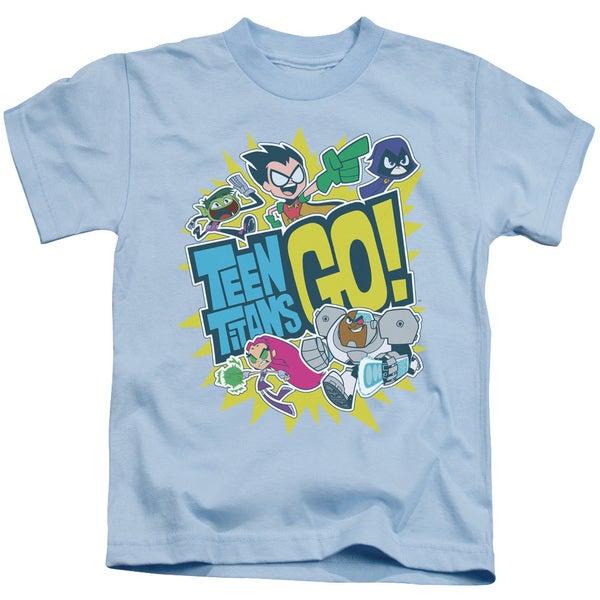 Teen Titans Go/Go Short Sleeve Juvenile Graphic T-Shirt in Light Blue