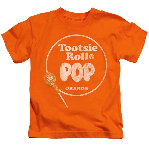 Tootsie Roll/Pop Logo Short Sleeve Juvenile Graphic T-Shirt in Orange