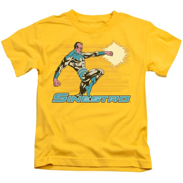 DC/Sinestro Short Sleeve Juvenile Graphic T-Shirt in Yellow