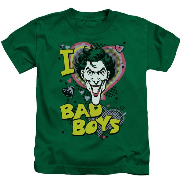 DC/I Heart Bad Boys 2 Short Sleeve Juvenile Graphic T-Shirt in Kelly Green