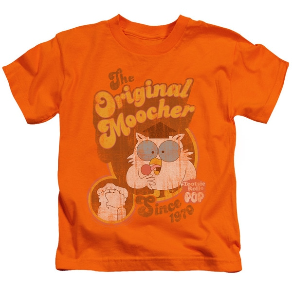 Tootsie Roll/Original Moocher Short Sleeve Juvenile Graphic T-Shirt in Orange