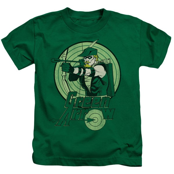 DC/Green Arrow Short Sleeve Juvenile Graphic T-Shirt in Kelly Green
