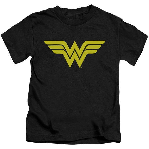DC/Wonder Woman Logo Short Sleeve Juvenile Graphic T-Shirt in Black