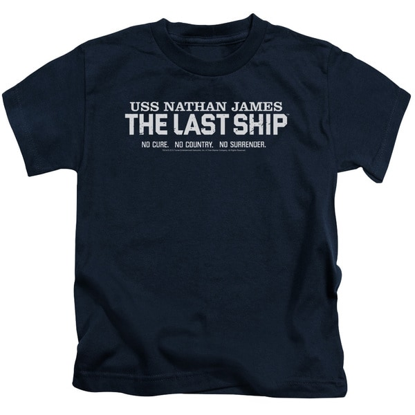Last Ship/Find The Cure Short Sleeve Juvenile Graphic T-Shirt in Navy