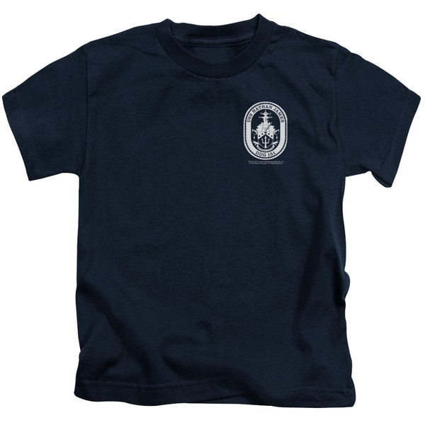 Last Ship/Port Short Sleeve Juvenile Graphic T-Shirt in Navy