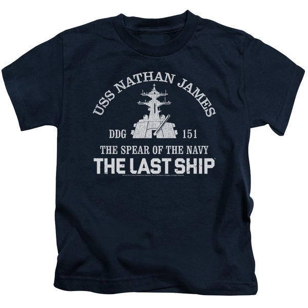 Last Ship/Open Water Short Sleeve Juvenile Graphic T-Shirt in Navy