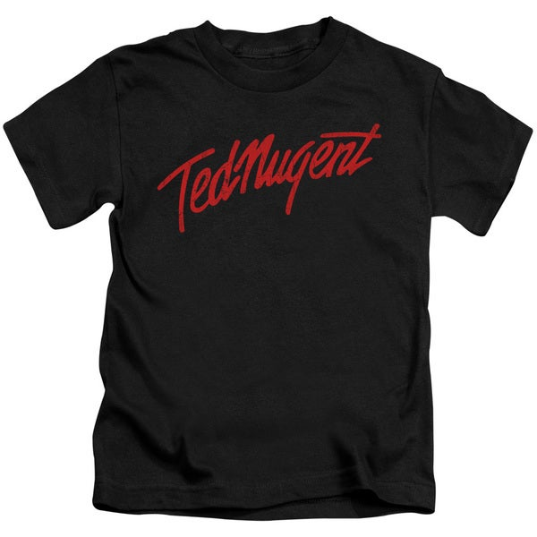 Ted Nugent/Distress Logo Short Sleeve Juvenile Graphic T-Shirt in Black