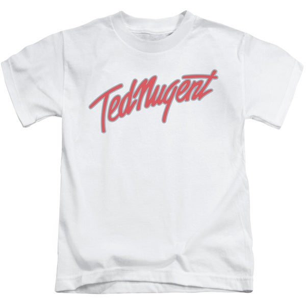 Ted Nugent/Clean Logo Short Sleeve Juvenile Graphic T-Shirt in White
