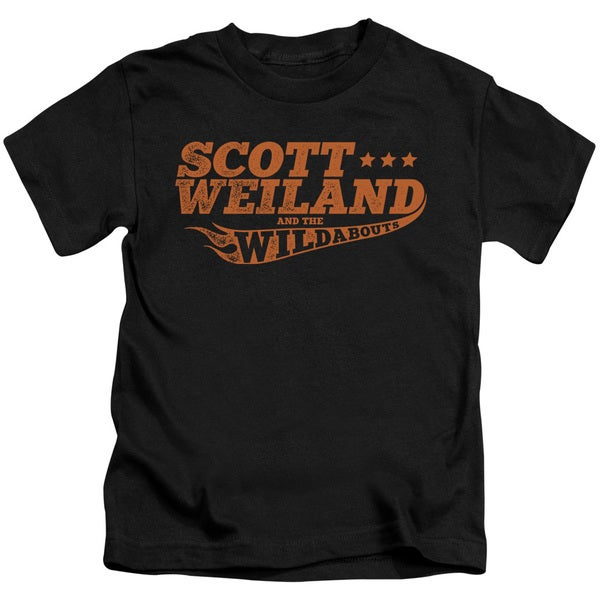Scott Weiland/Logo Short Sleeve Juvenile Graphic T-Shirt in Black