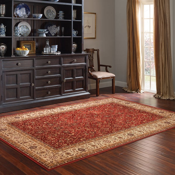 Manchester Red Polypropylene Machine-woven Rug