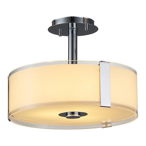 OVE Decors Bailey ii Chrome LED integrated Ceiling Semi Flushmount