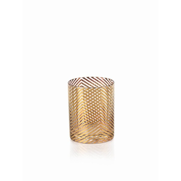 Zodax Golden Designed Skinny Glass Cup 20544932