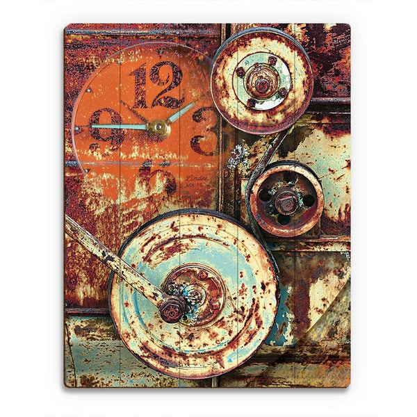 industrial Wheels' Wall Art on Wood