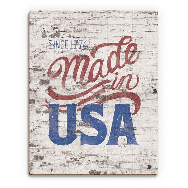 Made in USA' Wood Wall Art