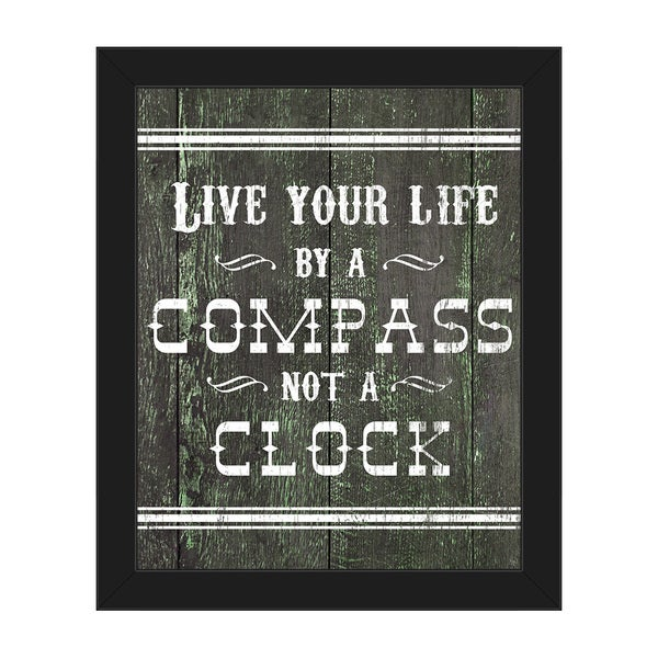 Live Your Life Western Framed Canvas Wall Art