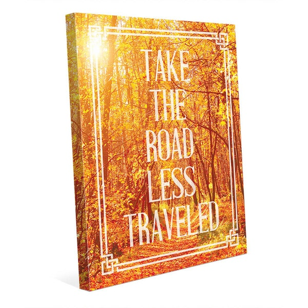 Road Less Traveled Fall' Wall Art on Canvas
