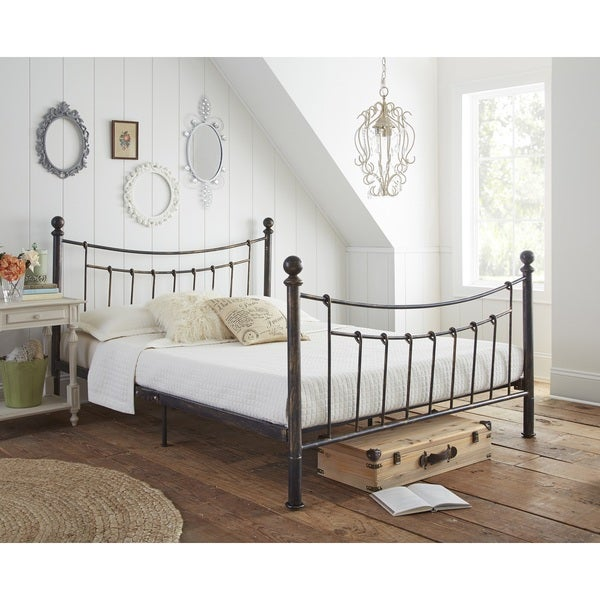 Sleep Sync Bonnie Metal Platform bed in Antique Bronze finish comes in three sizes