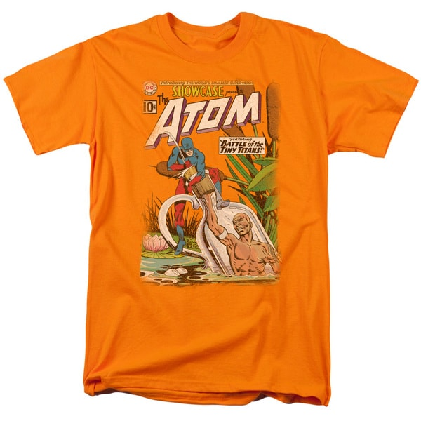 JLA/Showcase #34 Cover Short Sleeve Adult T-Shirt 18/1 in Orange