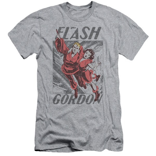 Flash Gordon/To The Rescue Short Sleeve Adult T-Shirt 30/1 in Heather