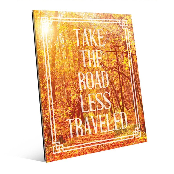 'Take the Road Less Traveled' Acrylic Wall Art