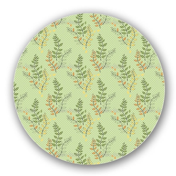 Green Branches Lazy Susan
