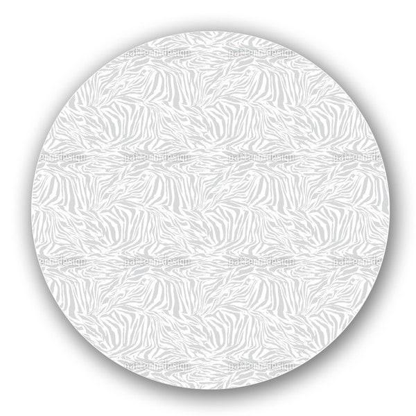 Zebra Monochrome Lazy Susan