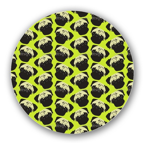 Puggy Pop Lime Lazy Susan