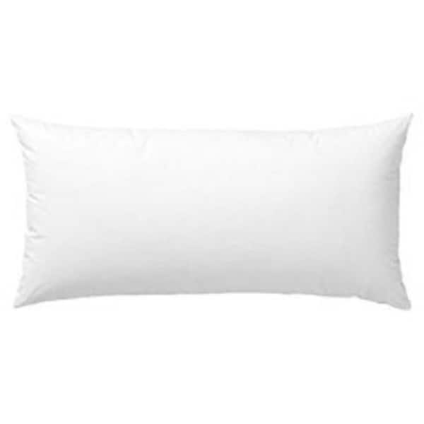 White Polyester Rectangular Pillow Insert