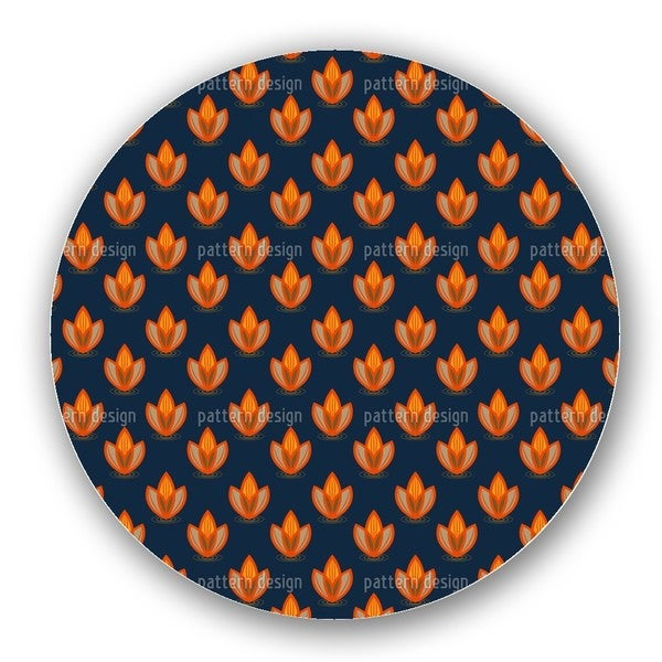 Lotus Orange Lazy Susan